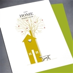 "New Home  "" Dog & Tree ""  NH21 Greeting Card"