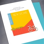"New Home  "" Bicycle ""  NH22 Greeting Card"