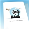 "New Years  "" Blue Sunset ""  NY14 Greeting Card"