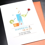 "New Year  "" Happiness & Health ""  NY22 Greeting Card"
