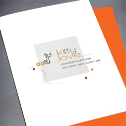 "Pet  "" Kitty Love ""  PET/NB06 Greeting Card"