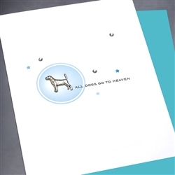 "Pet  "" Go To Heaven ""  PET/SY08 Greeting Card"