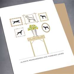 "Pet  "" Forever Loved, Dog ""  PET/SY12 Greeting Card"