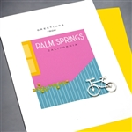 "Palm Springs   "" Bicycle ""  PS06 Greeting Card"