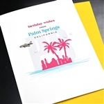 "Palm Springs  "" Birthday jet plane ""  PSBD07 Greeting Card"