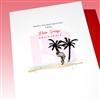 "Palm Springs  "" Valentine ... Flamingo ""  PSLV01 Greeting Card"