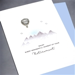 "Retirement  "" Hot Air Balloon ""  RT10 Greeting Card"