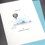 "Sobriety Anniversary  "" Hot Air Balloon ""  SA02 Greeting Card"