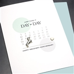 "Sobriety Anniversary  "" Day By Day ""  SA04 Greeting Card"