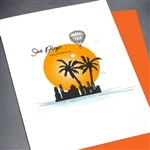 "San Diego  "" Balloon ""  SD15 Greeting Card"