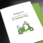 "Saint Patricks Day  "" Dachshund ""  SP20 Greeting Card"