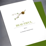 "Sympathy  "" Beautiful Soul ""  SY10 Greeting Card"
