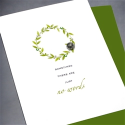 "Sympathy  "" No Words ""  SY17B Greeting Card"