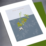"Sympathy  "" Hummingbird ""  SY28 Greeting Card"