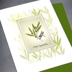 "Sympathy  "" Dragon Fly ""  SY32 Greeting Card"
