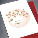 "Sympathy  "" In My Thoughts ""  SY34 Greeting Card"