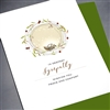 "Sympathy  "" Silver Bird ""  SY45 Greeting Card"