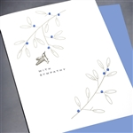 "Sympathy  "" Hummingbird & Branches   ""  SY57 Greeting Card"