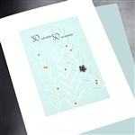 "Sympathy  "" So Loved, So Missed   ""  SY58 Greeting Card"