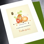 "Thanksgiving  "" 'Pumpkins ""  TH08 Greeting Card"