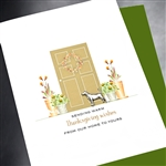 "Thanksgiving  "" From Our Home ""  TH41 Greeting Card"