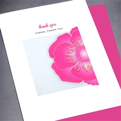 "Thank You  "" Pink Poppy ""  TY93 Greeting Card"