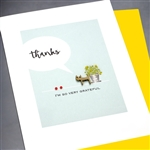"Thank You  "" Grateful Cat ""  TY103 Greeting Card"