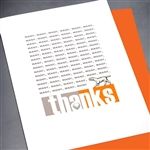 "Thank You  "" Many Thanks ""  TY105 Greeting Card"