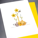 "Thank You  "" Yellow Flowers ""  TY107 Greeting Card"