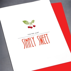 "Thank You  "" Simply Sweet ""  TY110 Greeting Card"
