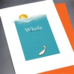 "Thank You  "" Whale Thanks ""  TY113 Greeting Card"