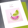"Thank You  "" Thanks A Melon ""  TY115 Greeting Card"