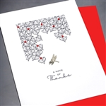 "Thank You  ""Note Of Thanks ""  TY120 Greeting Card"