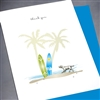 "Thank You  "" surfboard & dog ""  TY124 Greeting Card"