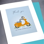 "Thank You  "" Scooter & Dog ""  TY126 Greeting Card"
