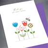 "Thank You  "" Bunch Of Flowers ""  TY127 Greeting Card"