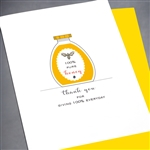 "Thank You  "" 100% Everyday ""  TY81B Greeting Card"