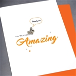 "Thank You  "" Freaking Amazing Monkey ""  TY85 Greeting Card"