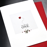 "Valentine  "" You're The One ""  VT02 Greeting Card"