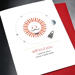 "Valentine  "" Sun & Rocket ""  VT03 Greeting Card"