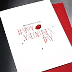 "Valentine  "" Red Lips ""  VT04 Greeting Card"