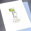 "Wedding  "" Wonderful Beginning ""  WD16 Greeting Card"