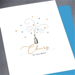 "Wedding  "" Cheers ""  WD48 Greeting Card"