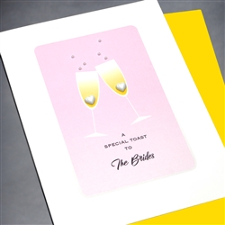 "Wedding Equality  "" The Brides ""  WD69 Greeting Card"