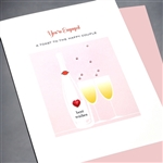 "Wedding / Engagement "" Red Heart ""  WD74 Greeting Card"