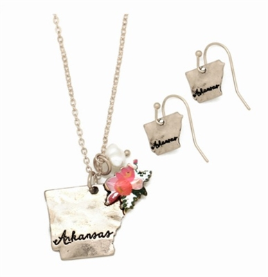 Arkansas Pendant Necklace & Earring Set