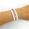 Unisex Baseball Stitch Leather Bracelet