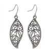 Burnished Silver Leaf Earrings