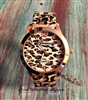 Chelsea Cheetah Print Watch