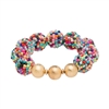 Chunky Seed Bead Bracelet in Multi-Color